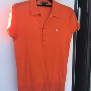 Polo orange top